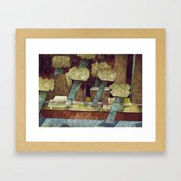 Rainy Road Framed Art Print