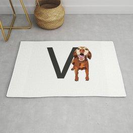 V is for Vizsla Dog Rug