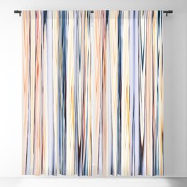 pastel abstract striped pattern Blackout Curtain