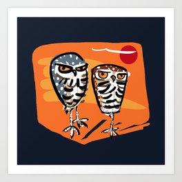 Athene cunicularia Owl Art Print
