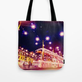 Night view of Station at  Graz , Austria. Tote Bag