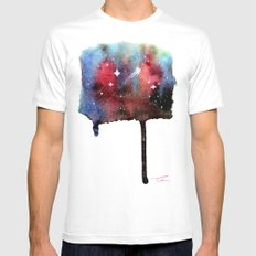 Little Nebula Watercolor Mens Fitted Tee White MEDIUM