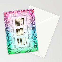 Happy Naw-Ruz - pattern Stationery Cards