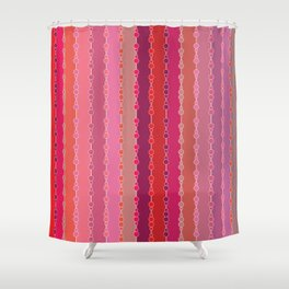 Multi-faceted decorative lines Shower Curtain