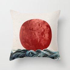 Sunrise in Japan Throw Pillow