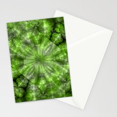 Fractal Imagination I - Emerald Stationery Cards