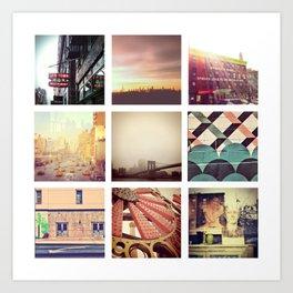 New York Scenes Art Print