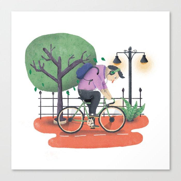 Bike ride Canvas Print