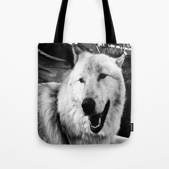 Wolf Dog Tote Bag