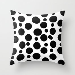 Black spots Throw Pillow