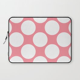 Polka Dots Pink Laptop Sleeve
