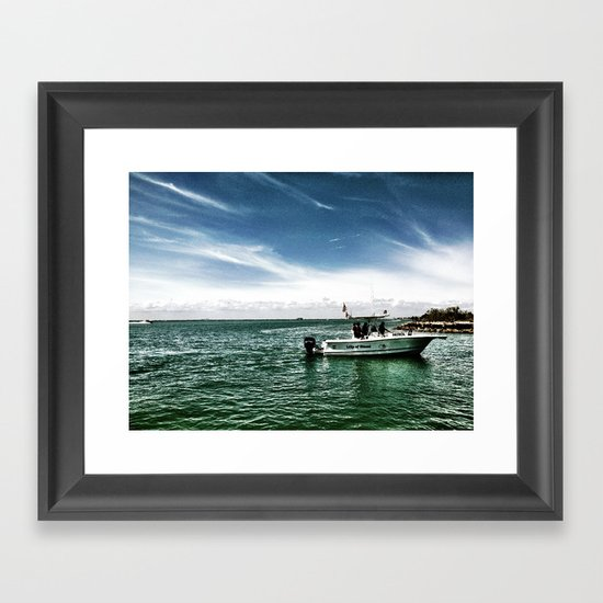 A cosmic current Framed Art Print