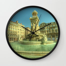 Lyon Fountain Jacobins Wall Clock