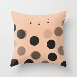 Boba bubble tea Throw Pillow