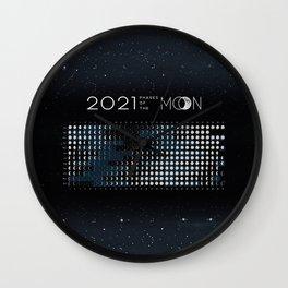 Moon Calendar 2021 (Moon phases 2021) - #5 Wall Clock