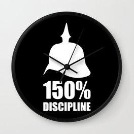 Prussia 150% discipline Wall Clock