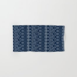Mudcloth Style 1 in Navy Hand & Bath Towel
