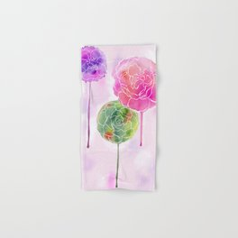 Succulent and Roses Hand & Bath Towel