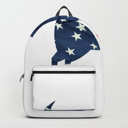 USA Funny Independence Day American Flag Goat Backpack