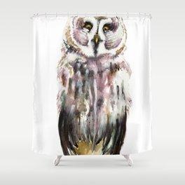 Gary The Great Gary Owl. Minimalist Style. Shower Curtain