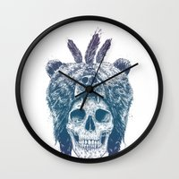 dead Wall Clocks featuring Dead shaman by Balazs Solti