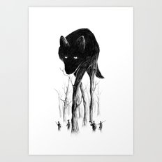 GOOD WOLF HUNTING Art Print