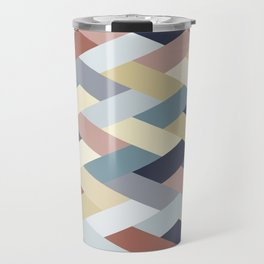 Earth Tones and Blues Geometry IB Travel Mug