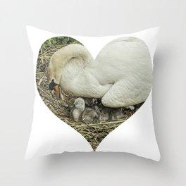 Mother Swan III Throw Pillow