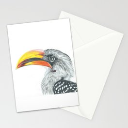Yellow-billed hornbill Stationery Cards