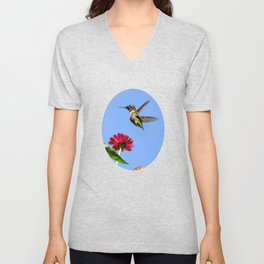 Hummingbird Happiness Unisex V-Neck