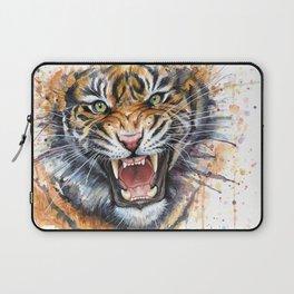 Tiger Roaring Wild Jungle Animal Laptop Sleeve