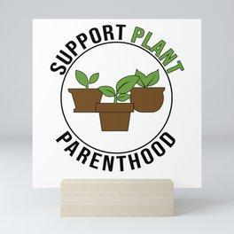 Gardener Houseplant Flower Pot Plant Lover Mini Art Print