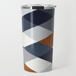 Navy Rust Geometry VIIB Travel Mug