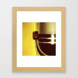 Vintage Microphone (yellow) Framed Art Print