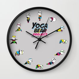 Yoga Bear - 80's Remix Wall Clock