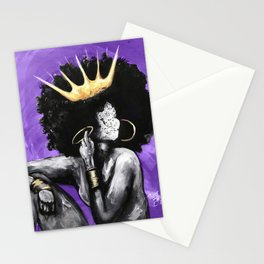 Naturally Queen VI PURPLE Stationery Cards