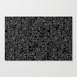 Sketched Numbers Canvas Print