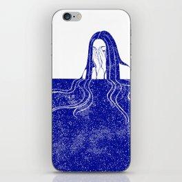 She Weeps Blue iPhone Skin