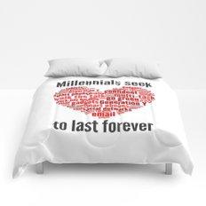millennials seek love to last forever Comforters