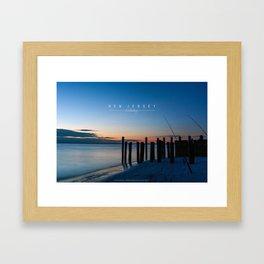 New Jersey -  Fishing. Framed Art Print
