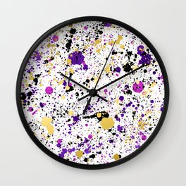 Colorful Paint Splatter Wall Clock