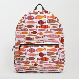 School of tropical fish pattern Backpack