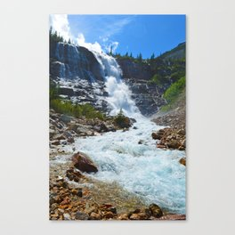 Geraldine Waterfall located in Jasper National Park, Canada Canvas Print