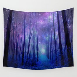 Fantasy Path Purple Blue Wall Tapestry
