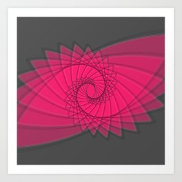 hypnotized - fluid geometrical eye shape Art Print
