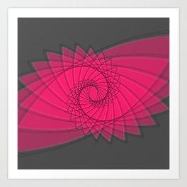 hypnotized - fluid geometrical eye shape Art Print