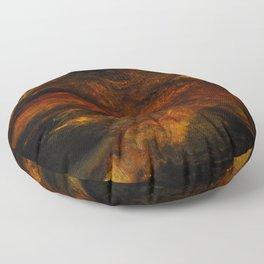 The breathing volcano Floor Pillow
