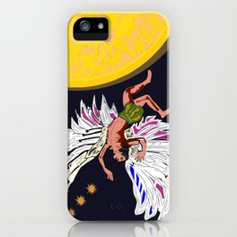 Icarus falling from the sun iPhone Case