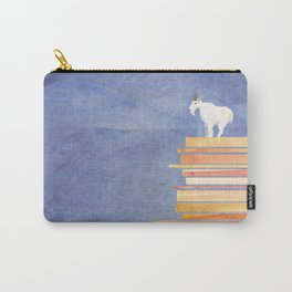 Goat on a Cliff Carry-All Pouch