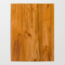Teak Wood Poster